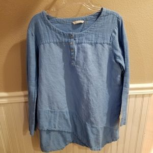 Soft Surroundings Blue Tunic XL
